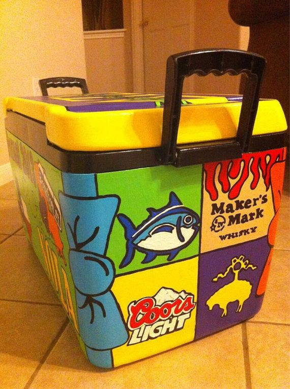 Diy Painted Cooler : Best ideas about hand painted coolers on pinterest