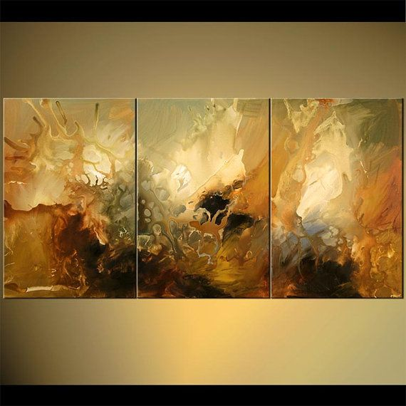 "Large Modern Painting, Original Abstract Art on Canvas by Osnat - MADE-TO-ORDER - 72""x36"""