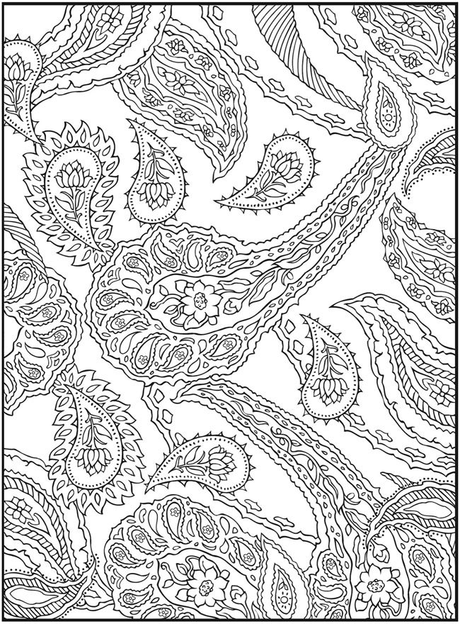 Paisley Pattern Colouring Sheets : 630 best paisley patterns images on pinterest