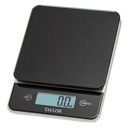 Taylor Digital 11lb Glass Top Food Scale Black : Target