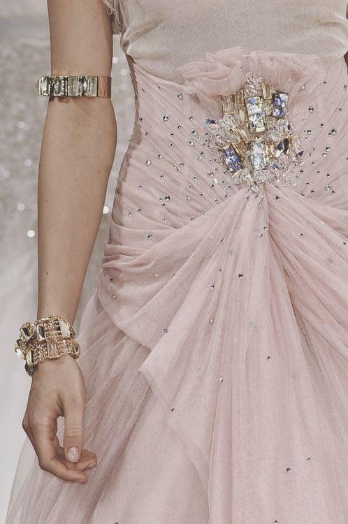 Tumblr  I like the detail on the midriff.. jewels are pretty but dress nicer: Jennypackham, 2010 Details, Fashion Details, Dress, Pink, Packham Spring, Pretty, Spring 2010, Jenny Packham