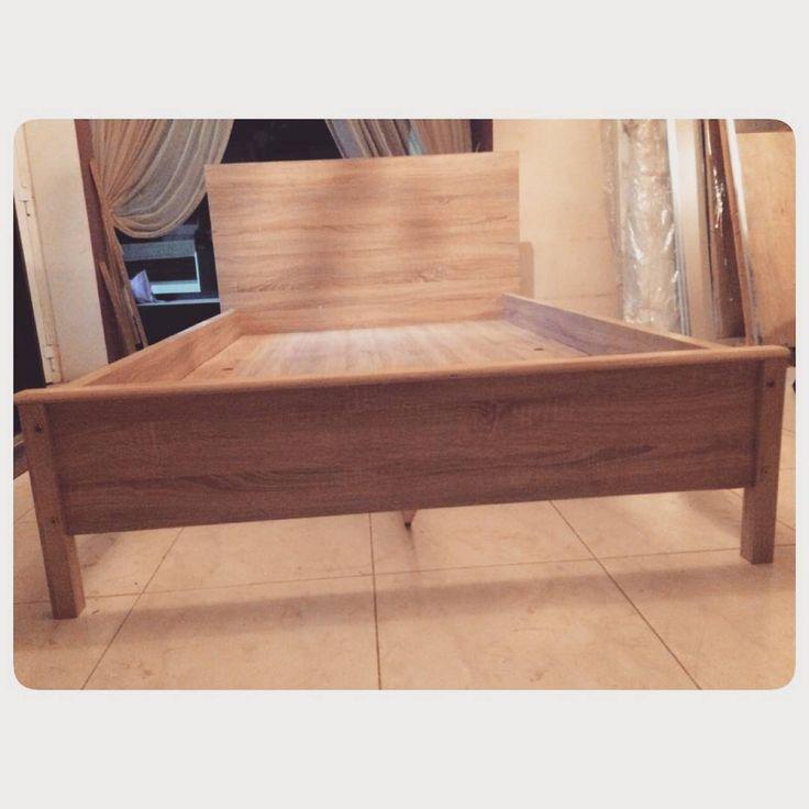 For Sale Wood Bed Size 120x200 New Price 30 Bd للبيع سرير خشب مقاس 120x200 جديد السعر 30 Bd Tel 33770050 Wood Beds Storage Bench Home Decor