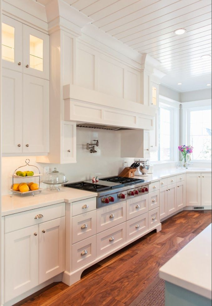478 best Beautiful White Kitchens! images on Pinterest   Floors ...