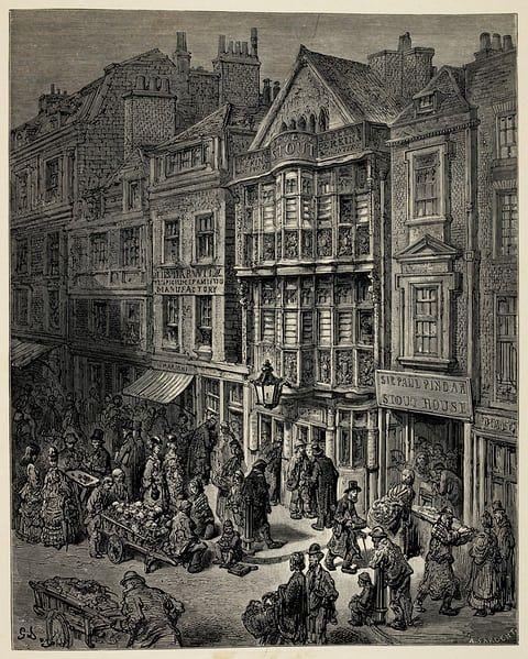 Victorian London by Gustave Dore - Bishopsgate Street