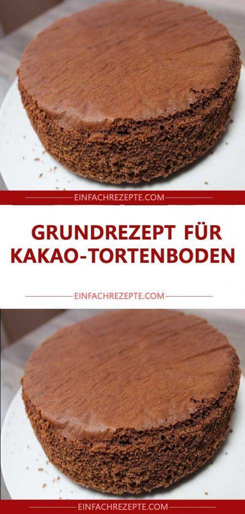 Grundrezept für Kakao-Tortenboden 😍😍😍