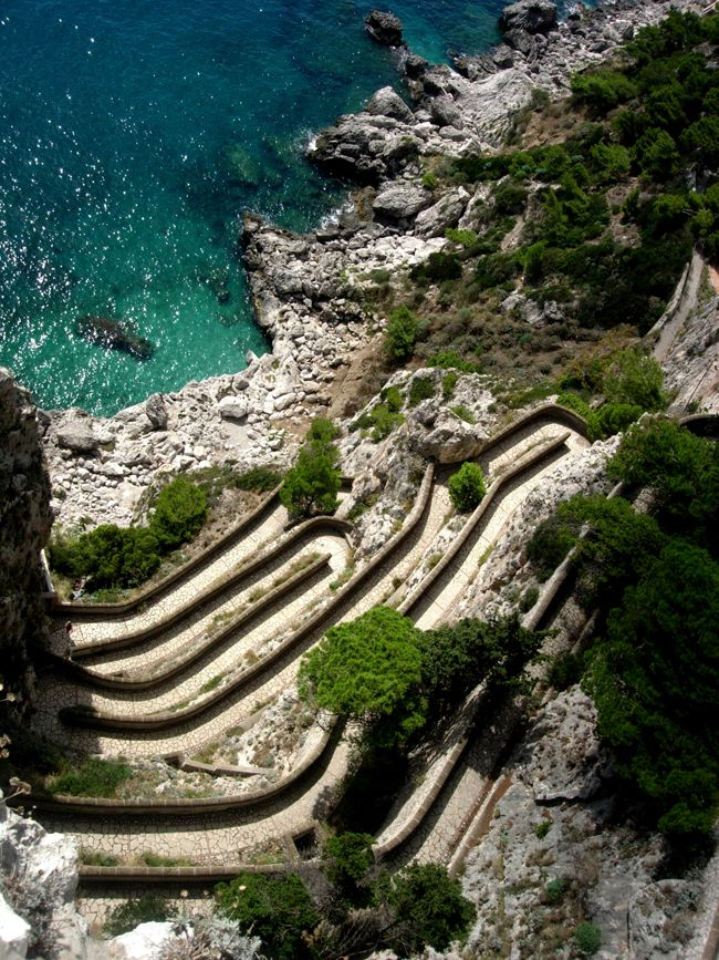#Augustus garden path #Capri #Italy