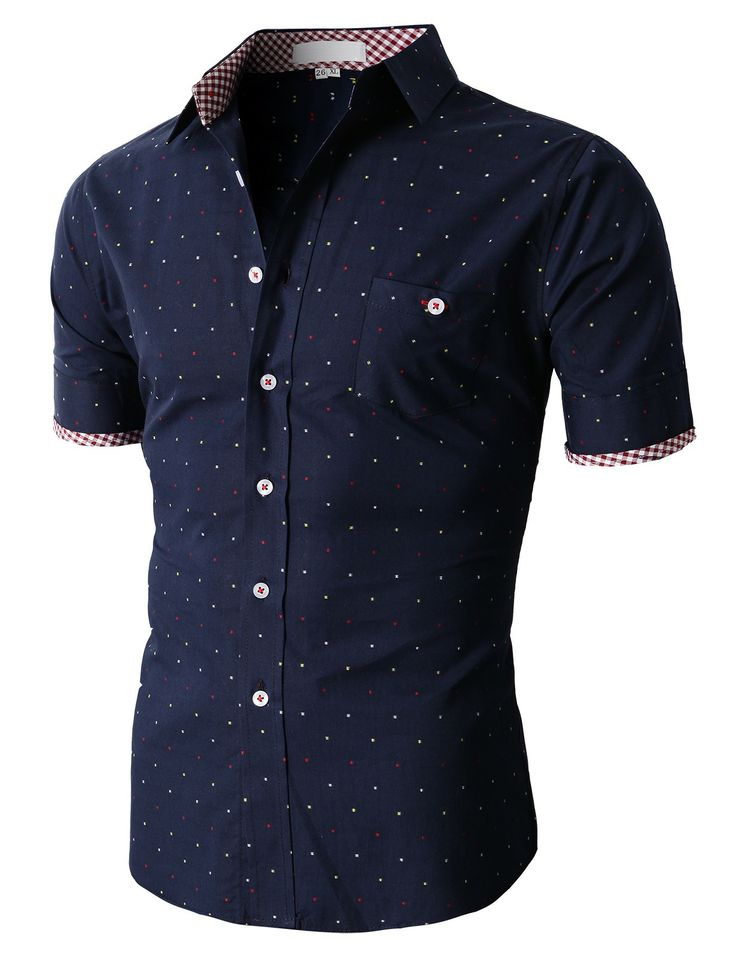 Doublju Casual Button-down Shirts Short Sleeve (KMTSTS05) #doublju