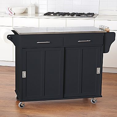 Kitchen Cart Sliding Door Stainless Steel Top Jcpenney Kitchen Pinterest Stainless
