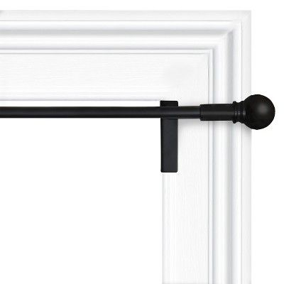 28 X48 Twist Shout Curtain Panel Rod Black Room Essentials