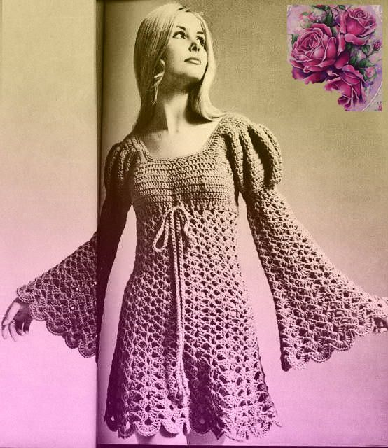 PDF Vintage Womens Ladies Juliet Dress Crochet Pattern Wedding