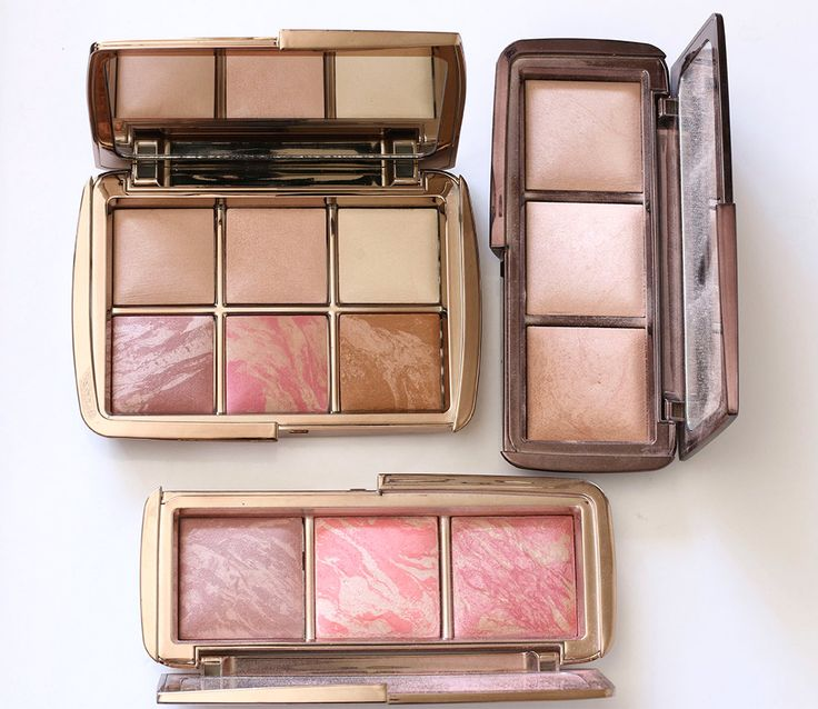 Hourglass Ambient Lighting Edit Palette next to the Hourglass Ambient Lighting and Ambient Blush Palettes for comparison…