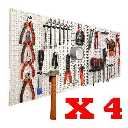 Panneaux porte outils muraux modulables. Produits astucieux parfaits pour bien ranger votre atelier et retrouver le bon outil au premier coup d'œil. #bricolage #tools