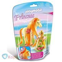 PLAYMOBIL 6168 Prinses Sunny met paard om te verzorgen - Koppen.com