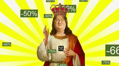 New trending GIF tagged broke valve gaben steam sale summer...