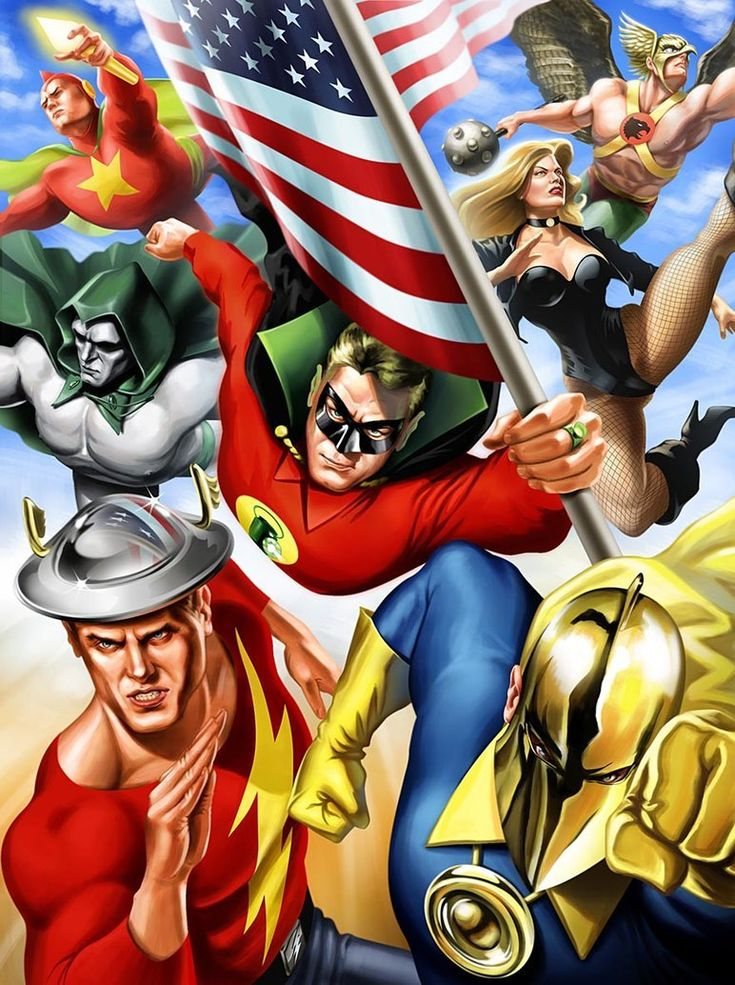 JSA by Joe Tromundo   Justice society of america, Jsa, Dc ...