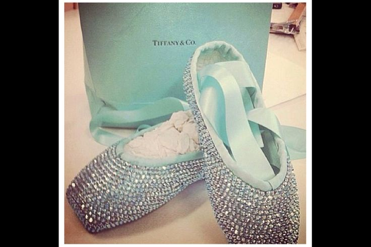 Crystal Tiffany Blue Pointe Shoes Ballet Pinterest
