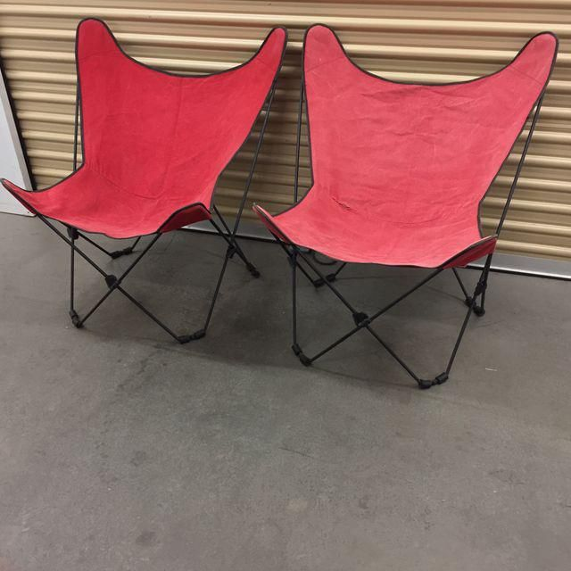 Image Of Mid-Century Collapsible Butterfly Chairs