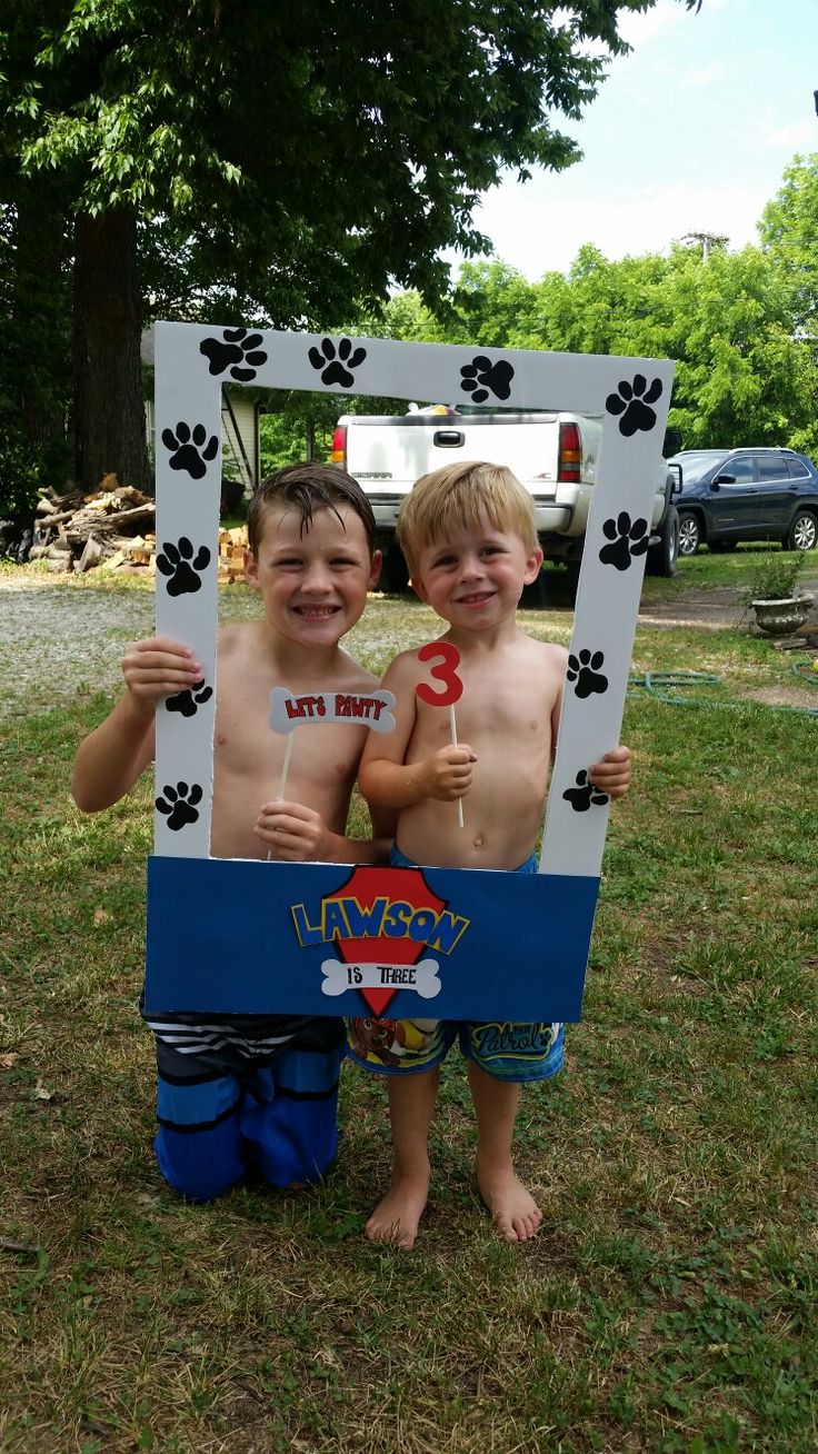 paw patrol party/photobooth!