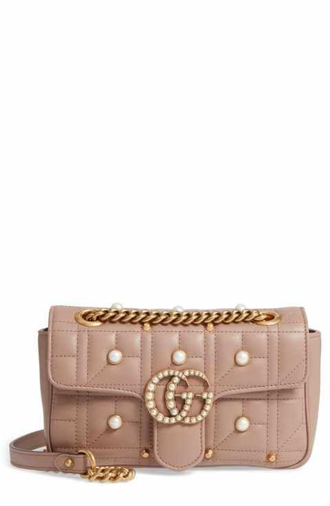 7d9f798ebd11 Gucci Mini GG Marmont 2.0 Imitation Pearl Logo Matelassé Leather Shoulder  Bag