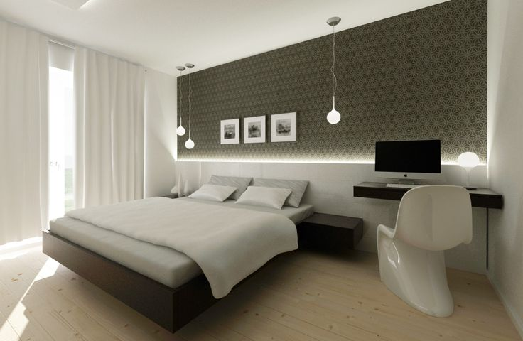 black&white bedroom interior design