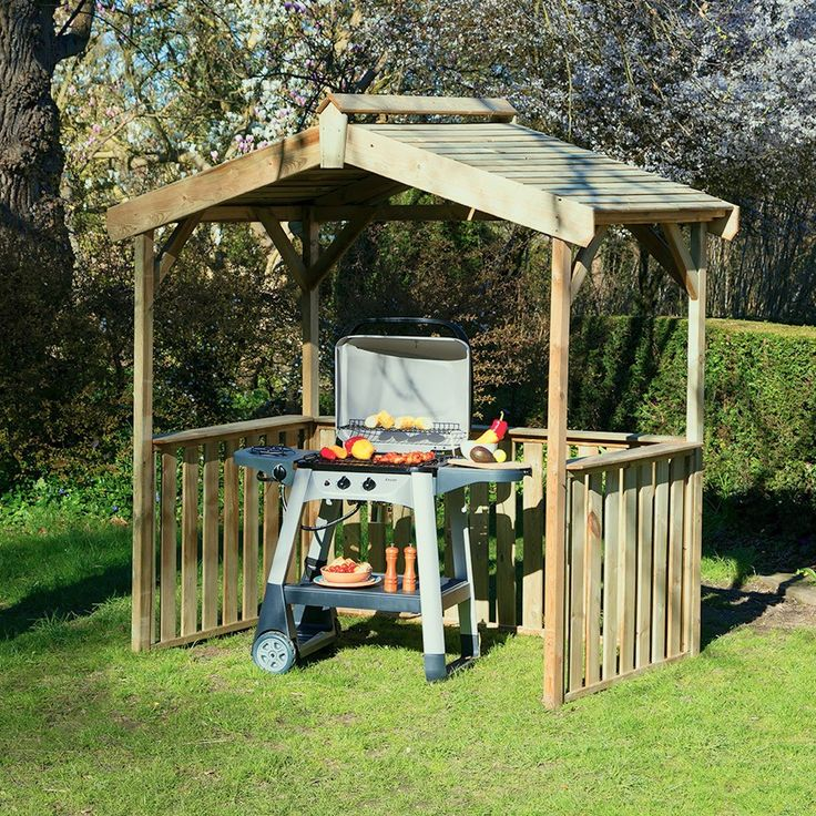 Zest4Leisure Ashton BBQ Shelter Pergola, Wooden gazebo