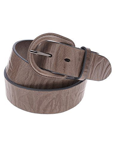 FLATSEVEN Mens Embossed Pattern Genuine Leather Belt with Horseshoe Buckle (Y411), Beige  #FLATSEVEN #Men #clothing #fashion #outfits #belts #accessories