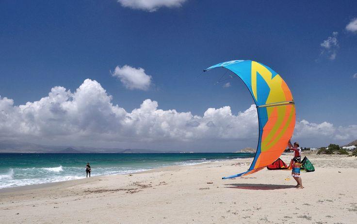 Glyfada beach - Naxos KiteSurf Club #kitesurf #kitesurfing #travel