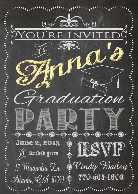 Best Chalkboard Graduation Images On   Shower Party