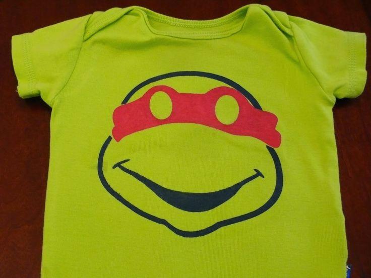 DIY Ninja Turtle Onesie & Free Cut File via Imperfect & Fabulous.  Oh man! So professional looking and cute!!