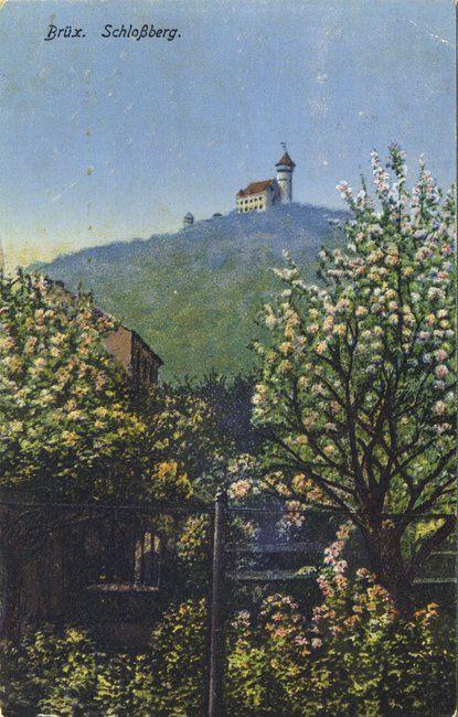 Brüx - Schlossberg im Frühling