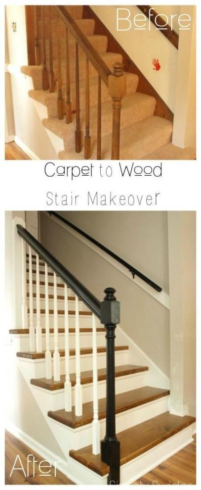 Idéias melhores escadas de reforma de escadas   – Interiors | Stairs