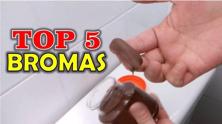 TOP 5 BROMAS - Bromas para hacer a tus amigos  #bromas #pranks #lol #epic #funny #risas #divertidas #videos de bromas #tvoaqui