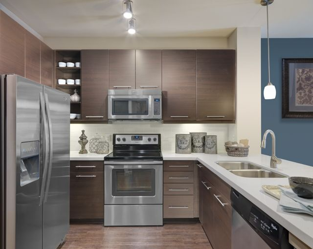 Kitchen at Camden Flatirons Apartments, Broomfield Colorado