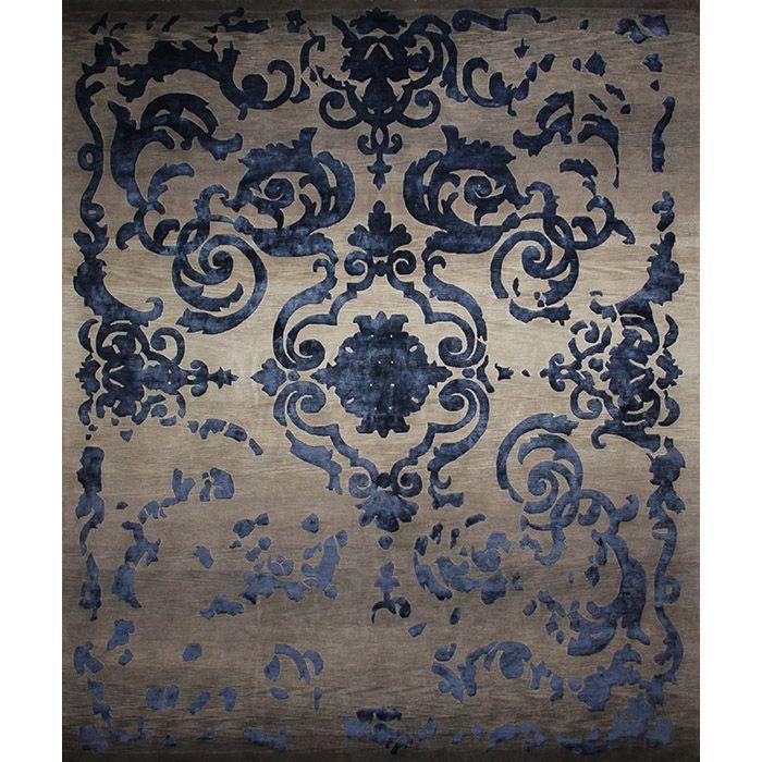 Серый ковер с узорами Градиент Cardinal Vintage Gradient #carpet #rug #interior #designer #ковер #дизайн