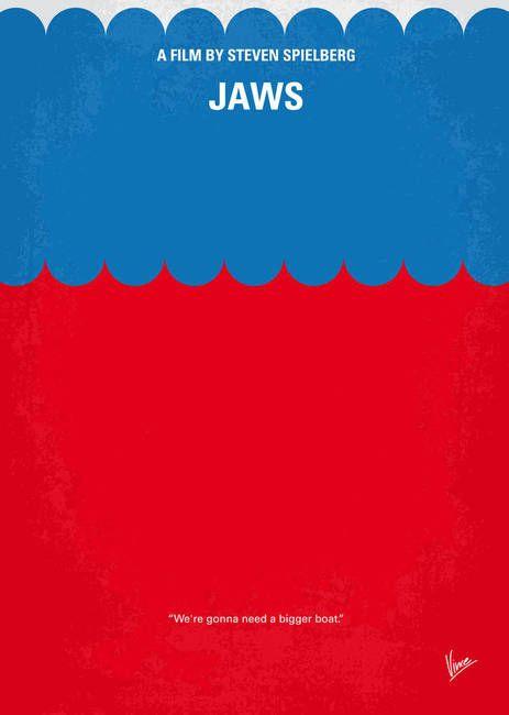 Jaws minimal movie poster by Chungkong Art