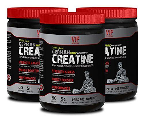 Muscle stimulator - PURE GERMAN CREATINE POWDER - MICRONIZED CREATINE MONOHYDRATE CREAPURE 300G 60 SERVINGS - Bodybuilding supplements