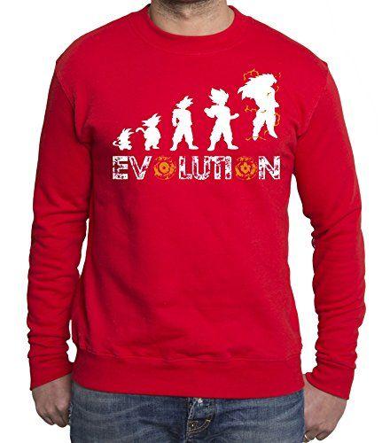 Son Goku Evolution sudadera de hombre Goku Dragon Master Son Ball Vegeta Turtle Roshi Db, Farbe2:Rojo;Grᅵᅵe2:L #regalo #arte #geek #camiseta