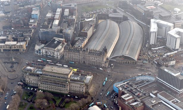 St Georges Hall and Lime Street train station are the center of the William Brown Street Cultural Quarter.