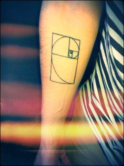 Golden Ratio Tattoo | Fibonacci Sequence | Pinterest