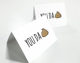 You Da Sh*t, Funny Thank You Card, Thank You Card, Cute Thank You Card, Blank Greeting Card, Blank Thank You Card, Poop Thank You Card