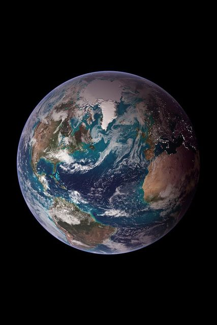 Earth Wallpaper | Composite image of the Earth from NASA. | Stuart Rankin | Flickr