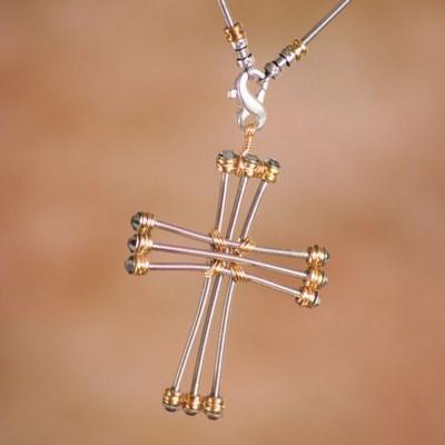 Cross Jewerly, Cross Necklaces, Cross Earrings, Cross Charms, Cross Bracelets, guitar string jewelry, rocker jewelry, biker jewelry