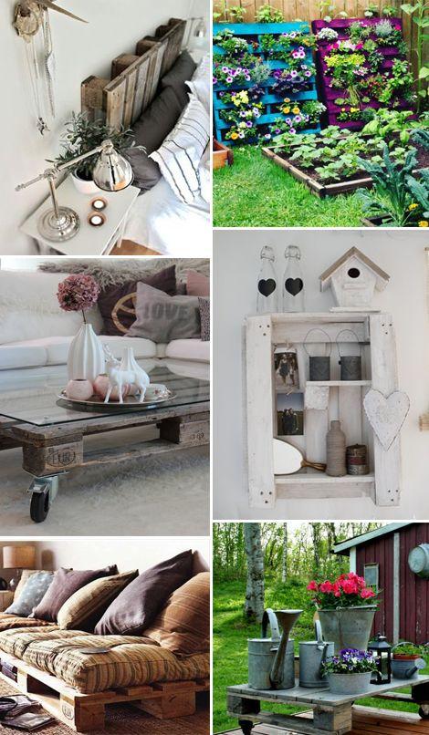 recycle riutilizzare bancali in legno per arredare casa e giardino | StyleNotes - Appunti di Stile www.stylenotes.it