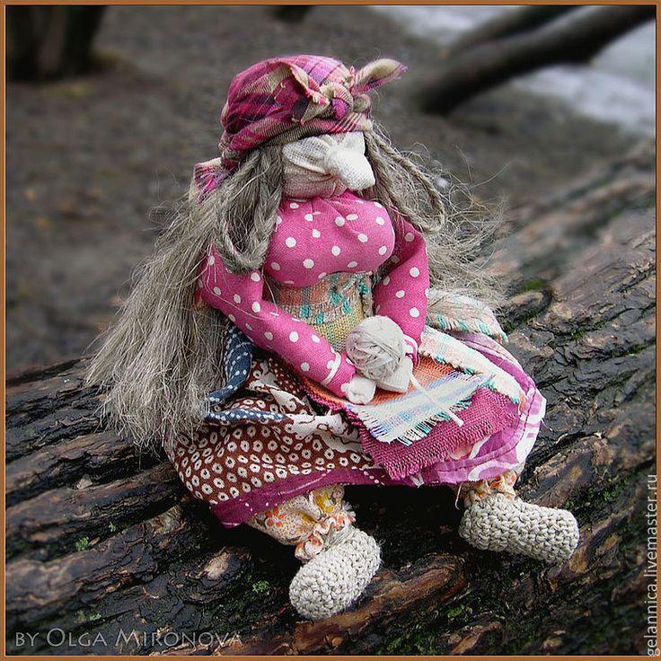 Купить Бабя Яга с клубочком - баба яга, баба-яга, кукла ручной работы