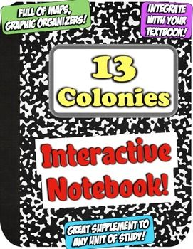The 13 Colonies interactive notebook begins with a table of contents to help students organize their material. Then, students are greeted with a variety of key words that are common among study of the colonies. Throughout the notebook, students will interact with the Triangular Trade, Middle Passage, Colony Regions, Roger Williams, Jamestown, Plymouth, reasons for settlement of the 13 Colonies, Puritans, and more!