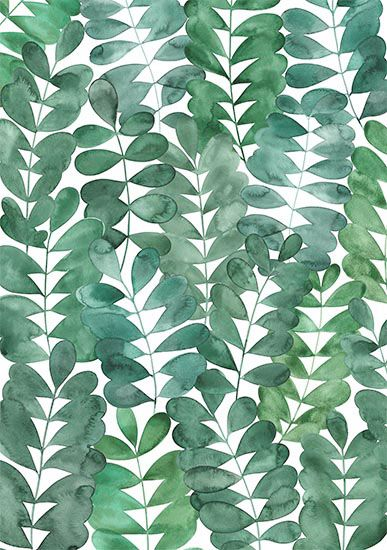 A watercolour design featuring Robinia leaves from my garden                                                                                                                                                                                 More