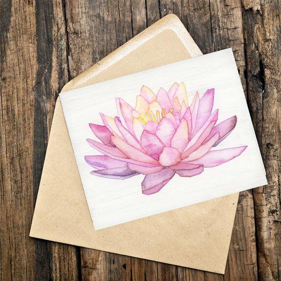 Geometric Watercolor Lotus by HeidiMillerLowell on Etsy