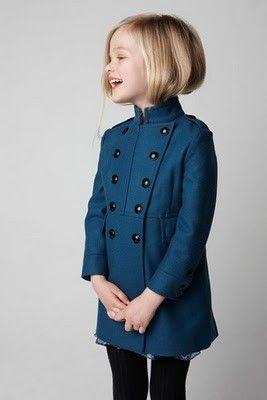 : Little Girls, Kids Style, Military Coats, Kids Fashion, Military Style, Blue Coats, Kids Clothing, Fashion Children, Cute Jackets