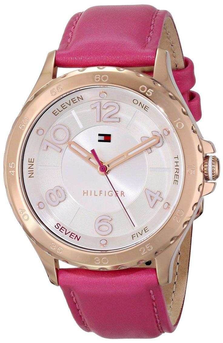 women's watches: gold women's watch Tommy Hilfiger Women's 1781400 Analog Display Quartz Pink Watch