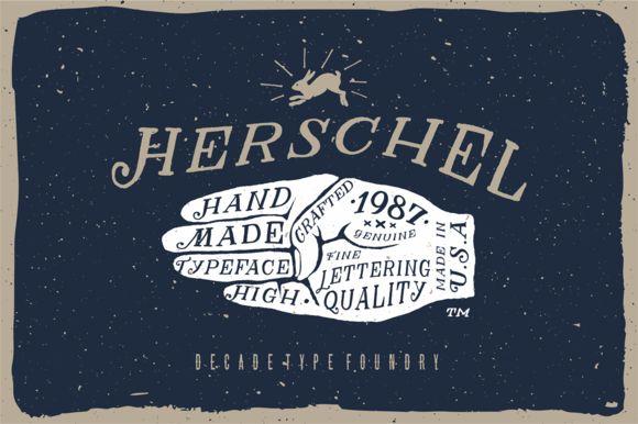Herschel + Bonus by Decade Type Foundry on Creative Market